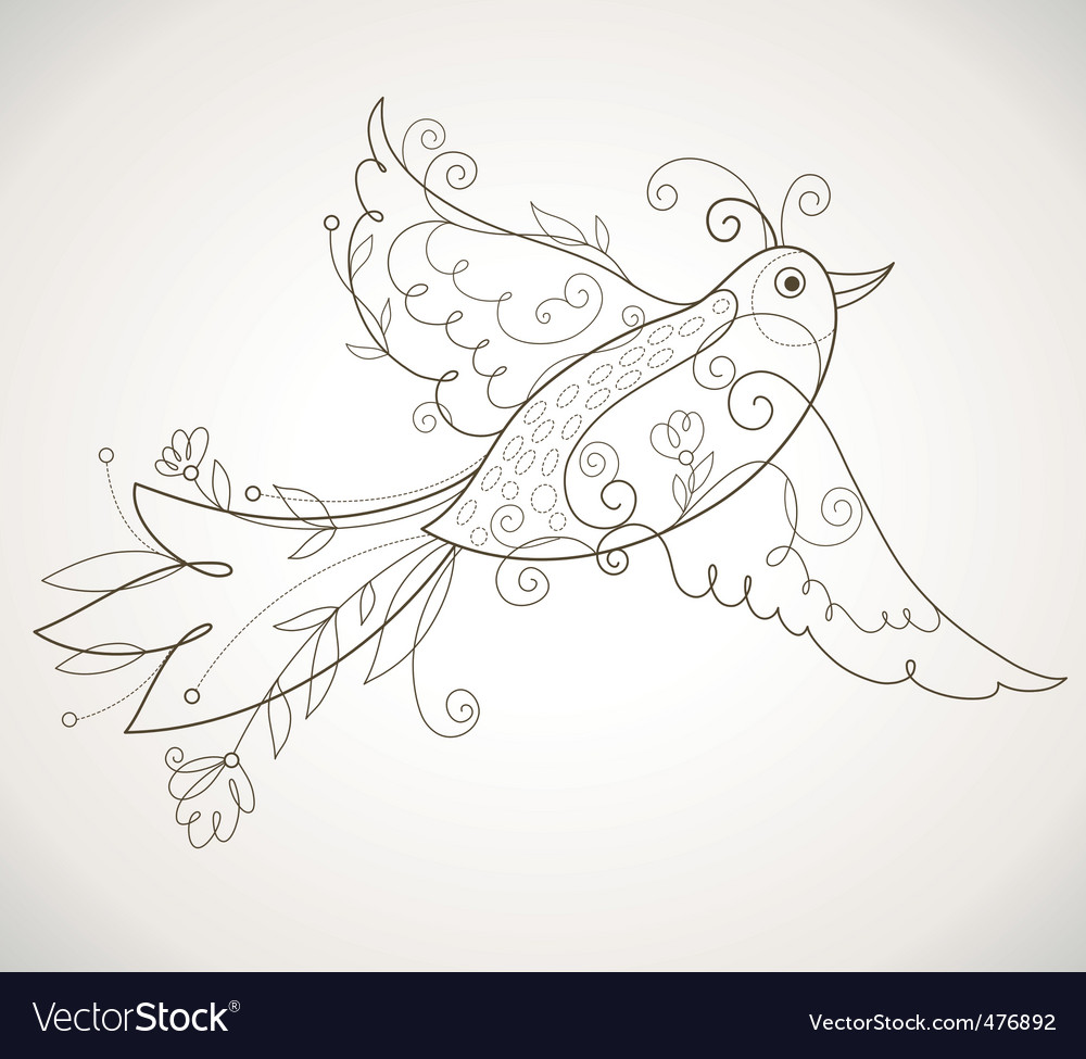Decorative bird vector | Price: 1 Credit (USD $1)