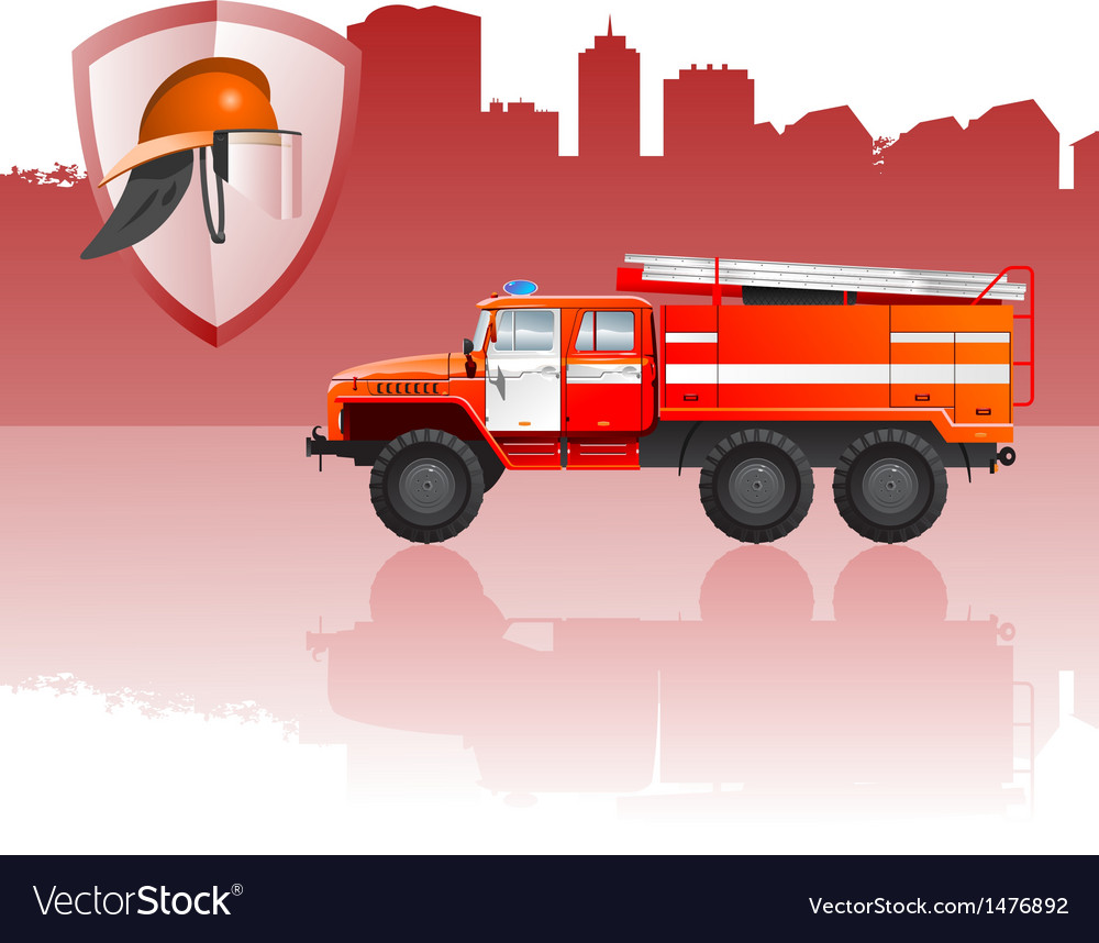 Fire apparatus vector | Price: 1 Credit (USD $1)