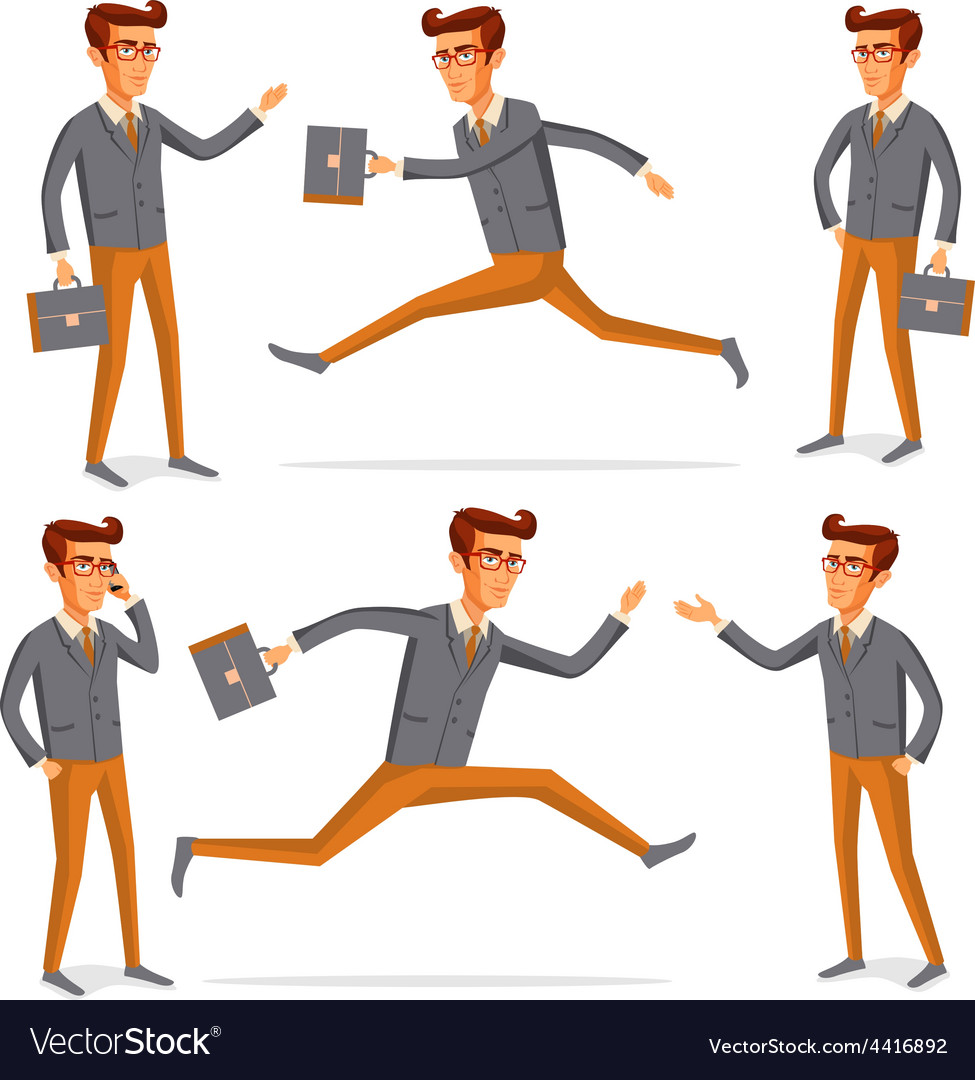 Flat people icons situations web infographic set vector | Price: 1 Credit (USD $1)