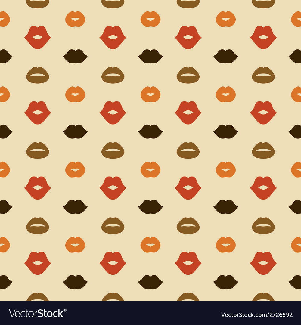 Lips seamless pattern vector | Price: 1 Credit (USD $1)