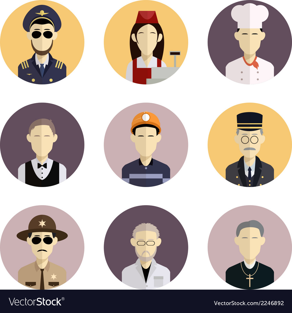 Profession icons 2 vector | Price: 1 Credit (USD $1)