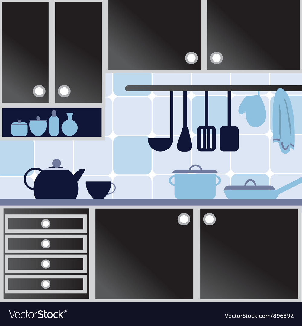 With kitchen vector | Price: 1 Credit (USD $1)