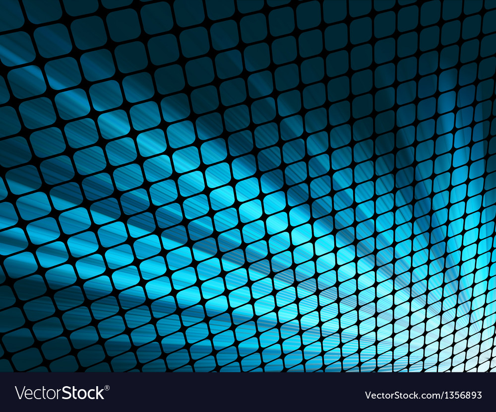 Blue rays light 3d mosaic eps 8 vector | Price: 1 Credit (USD $1)
