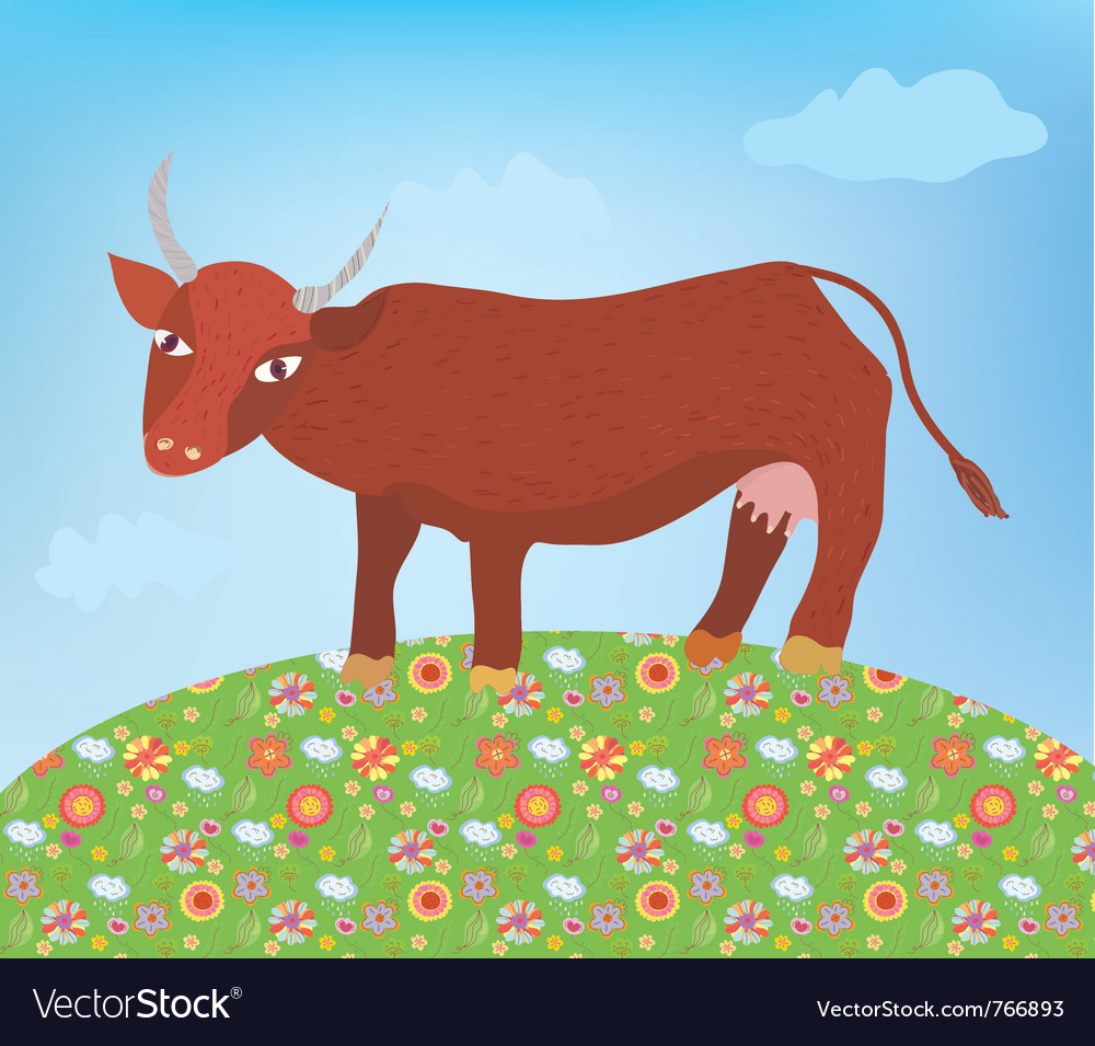 Cow summer vector | Price: 1 Credit (USD $1)