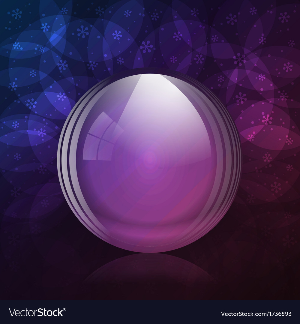 Luminescent snow globe vector | Price: 1 Credit (USD $1)