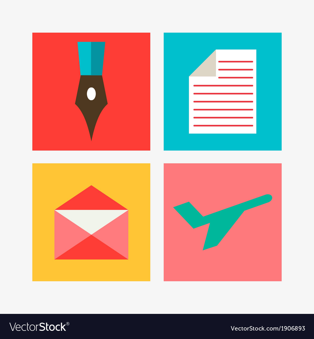 Mail icons set vector | Price: 1 Credit (USD $1)
