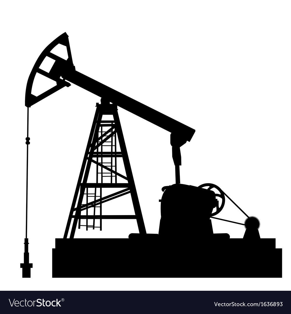 Oil pump jack oil industry equipment vector | Price: 1 Credit (USD $1)