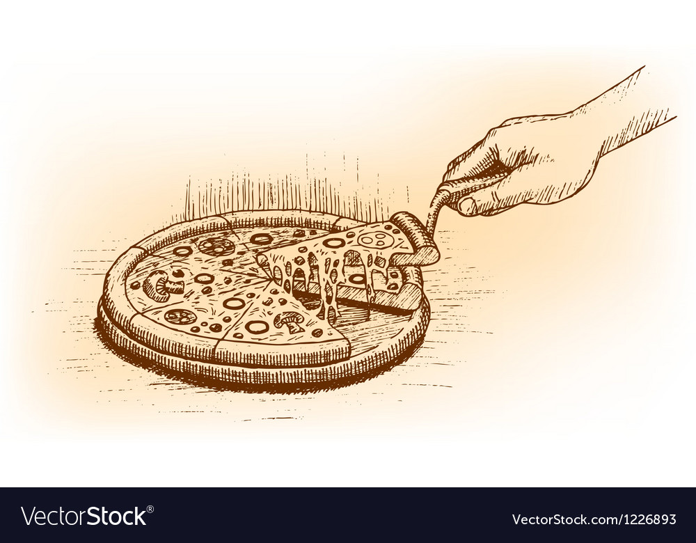 Pizza drawn by hand vector   Price: 1 Credit (USD $1)