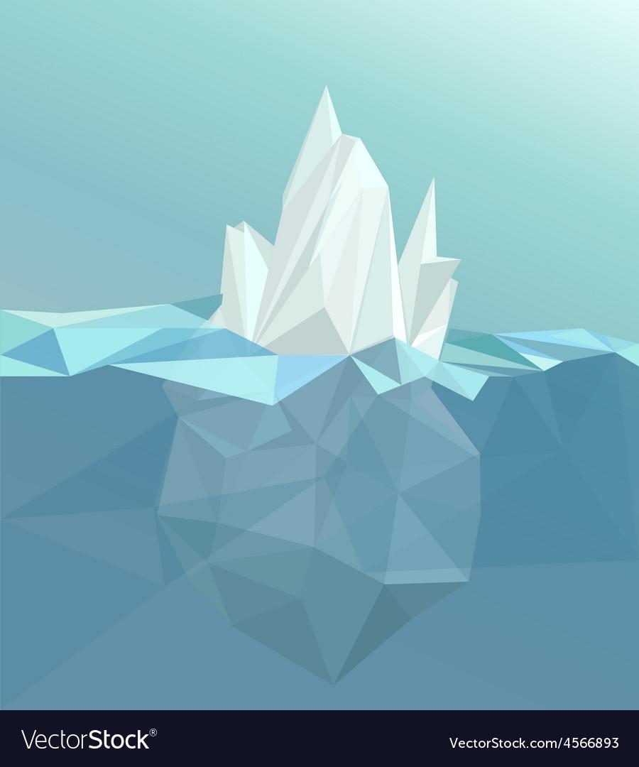 Polygonal iceberg glacier landscape vector | Price: 1 Credit (USD $1)