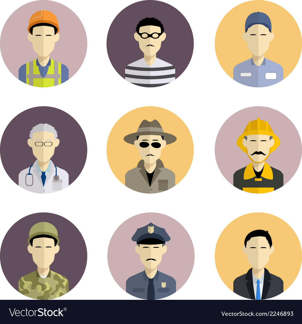 Profession icons vector | Price: 1 Credit (USD $1)