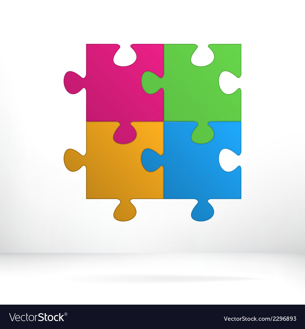 Puzzle abstract concept  eps8 vector | Price: 1 Credit (USD $1)