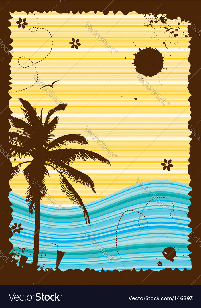 Summer holiday frame vector | Price: 1 Credit (USD $1)