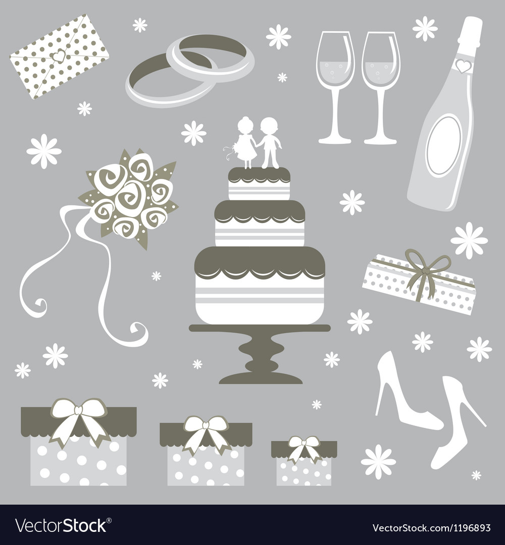 Wedding set vector | Price: 1 Credit (USD $1)
