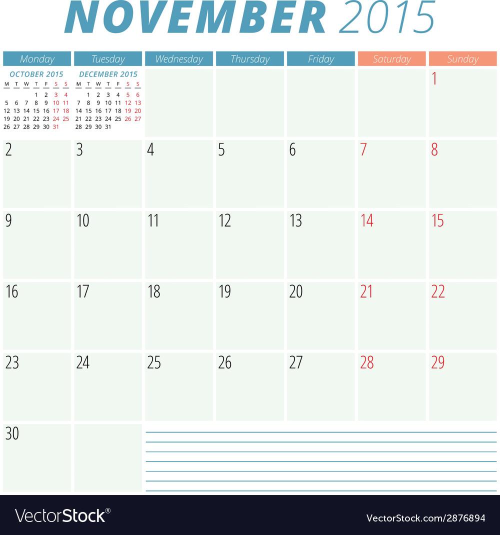 Calendar planner 2015 design template vector   Price: 1 Credit (USD $1)