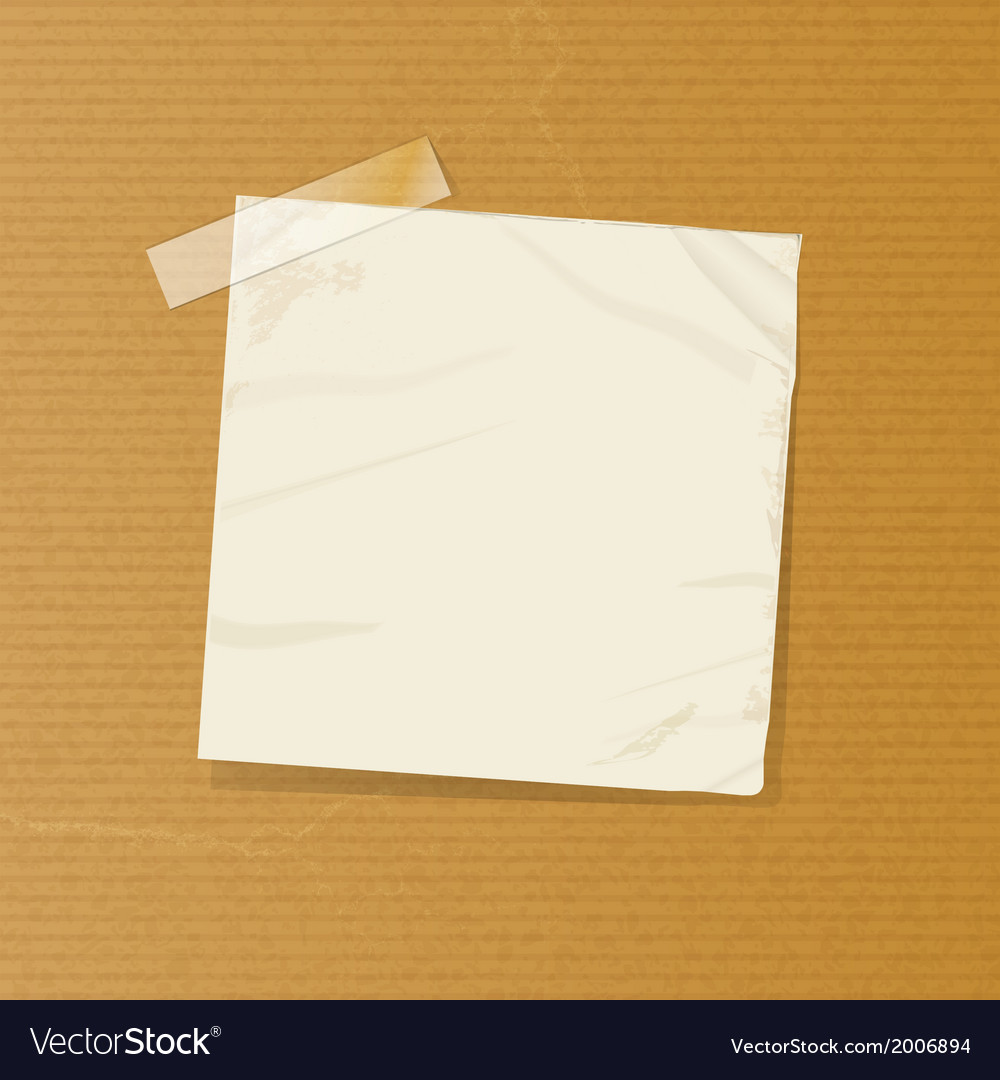 Crumpled note on brownpaper vector | Price: 1 Credit (USD $1)