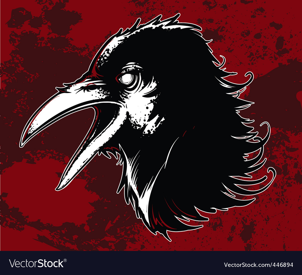 Evil crow vector | Price: 3 Credit (USD $3)