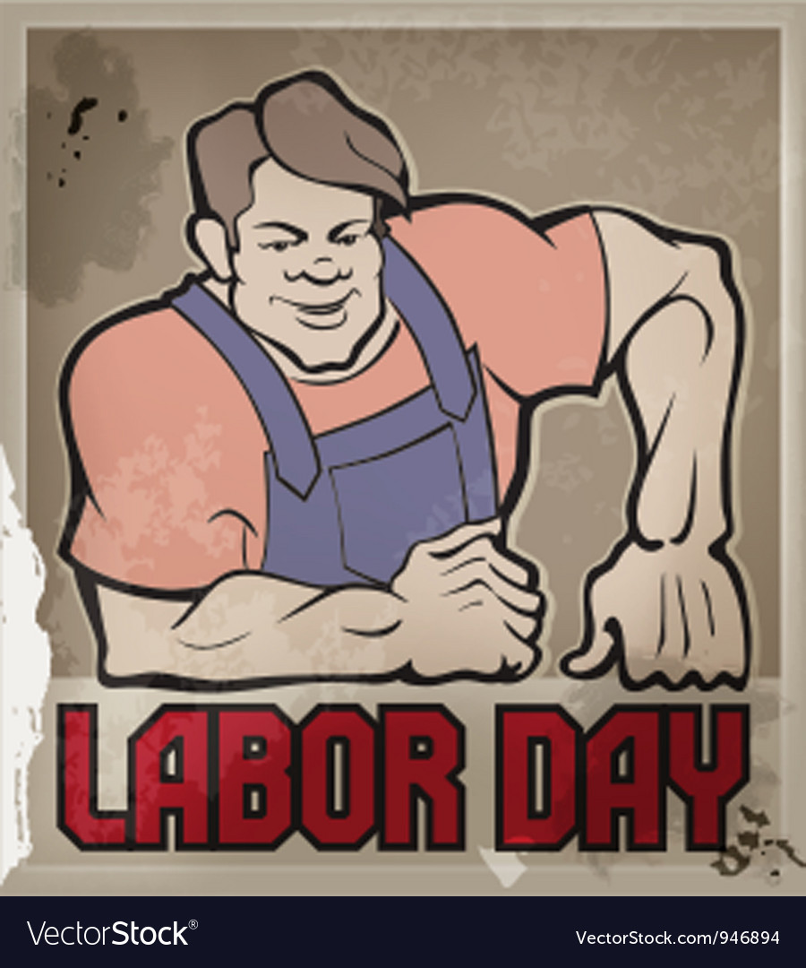 Hard worker labor day vector | Price: 3 Credit (USD $3)