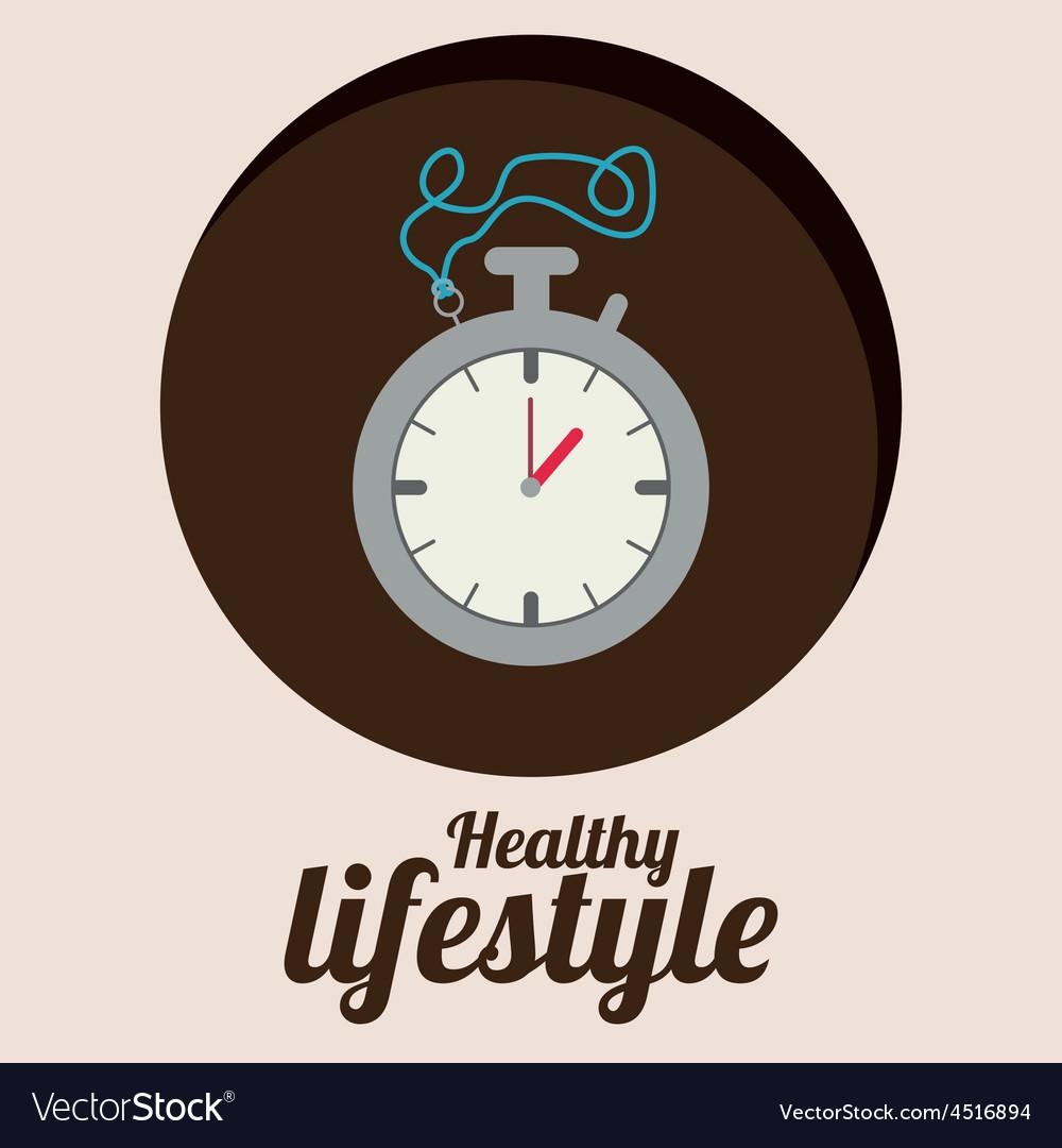 Healty lifestyle design vector | Price: 1 Credit (USD $1)