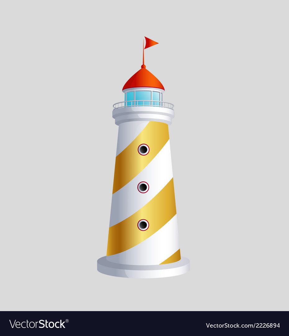 Lighthouse art eps icon sybol download vector | Price: 1 Credit (USD $1)