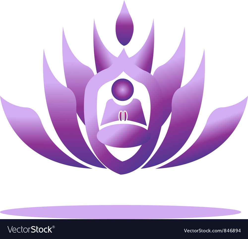 Lotus yoga logo vector | Price: 1 Credit (USD $1)
