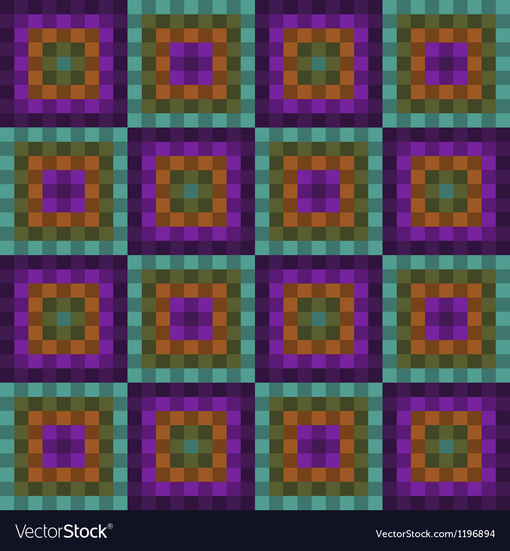 Seamless pattern with purple and green squares vector | Price: 1 Credit (USD $1)