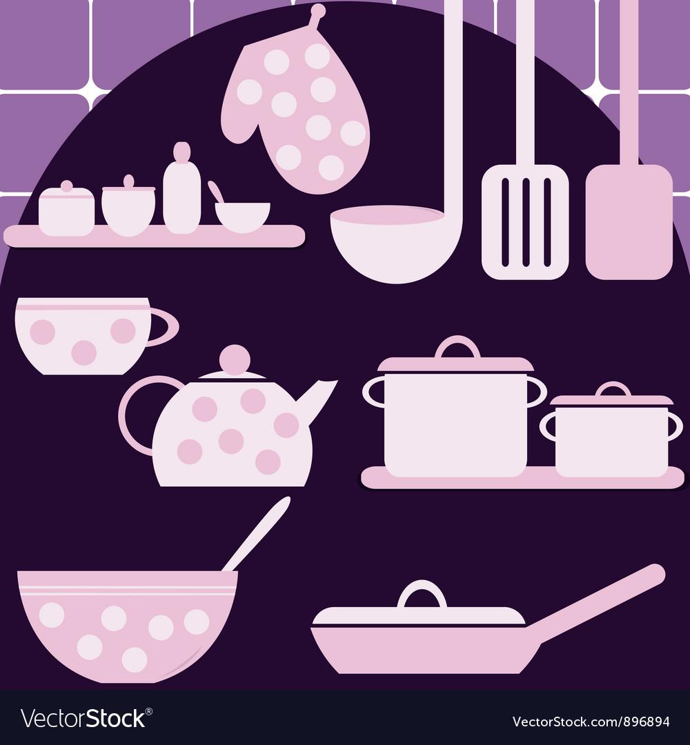 Set of kitchen appliances vector | Price: 1 Credit (USD $1)