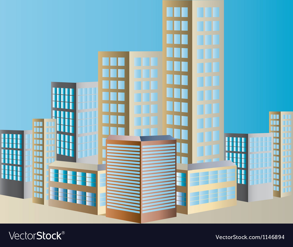 Shimmering cityscape vector | Price: 1 Credit (USD $1)
