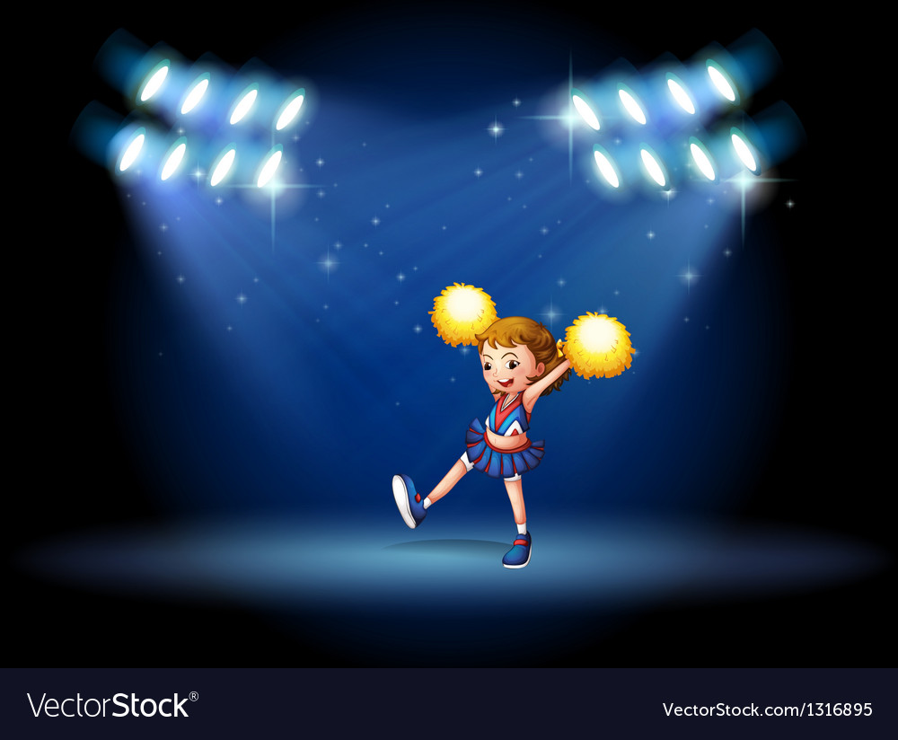 A cheerleader performing on the stage with vector | Price: 1 Credit (USD $1)