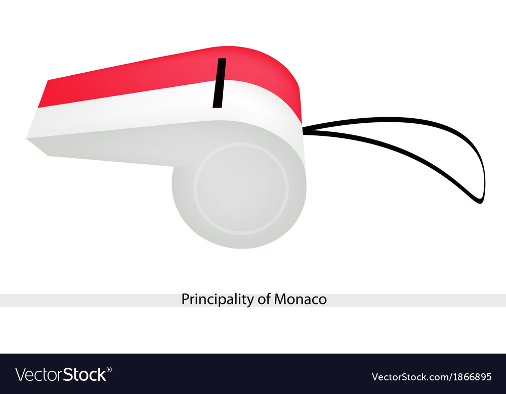 A whistle of the principality of monaco vector | Price: 1 Credit (USD $1)