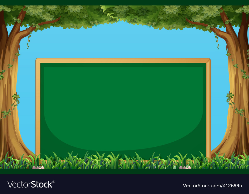 Board and trees vector | Price: 1 Credit (USD $1)