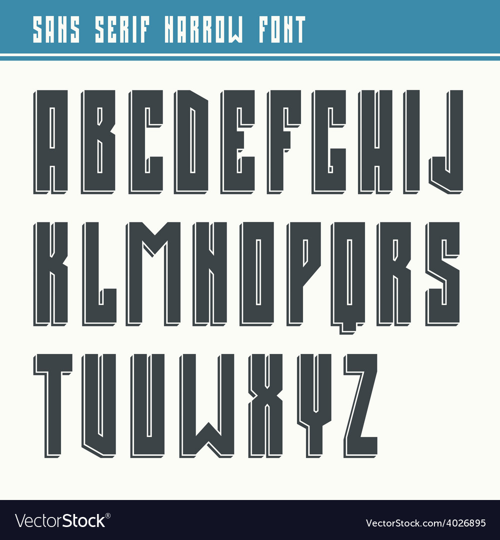 Bold sans serif font in retro style vector | Price: 1 Credit (USD $1)
