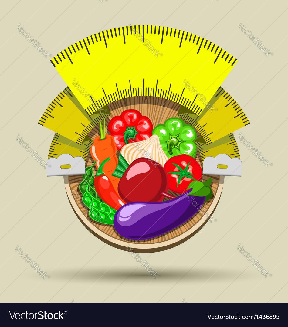 Dieting sticker vector   Price: 1 Credit (USD $1)
