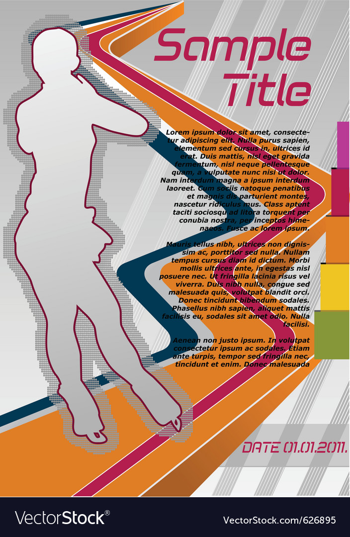 Figure skating poster vector | Price: 1 Credit (USD $1)