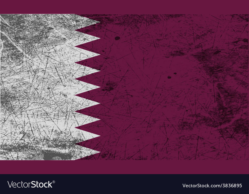 Flag of qatar with old texture vector | Price: 1 Credit (USD $1)