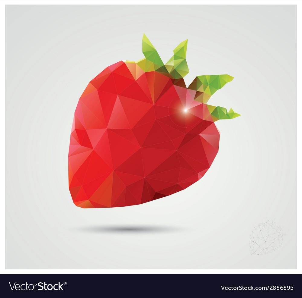Geometric polygonal fruit triangles strawberry vector   Price: 1 Credit (USD $1)
