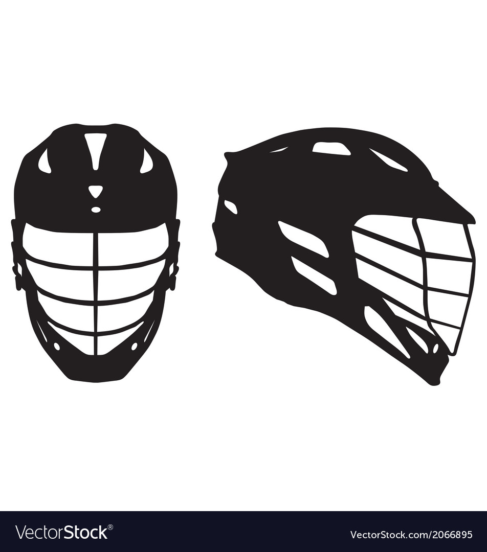 Lacrosse helmet vector | Price: 1 Credit (USD $1)