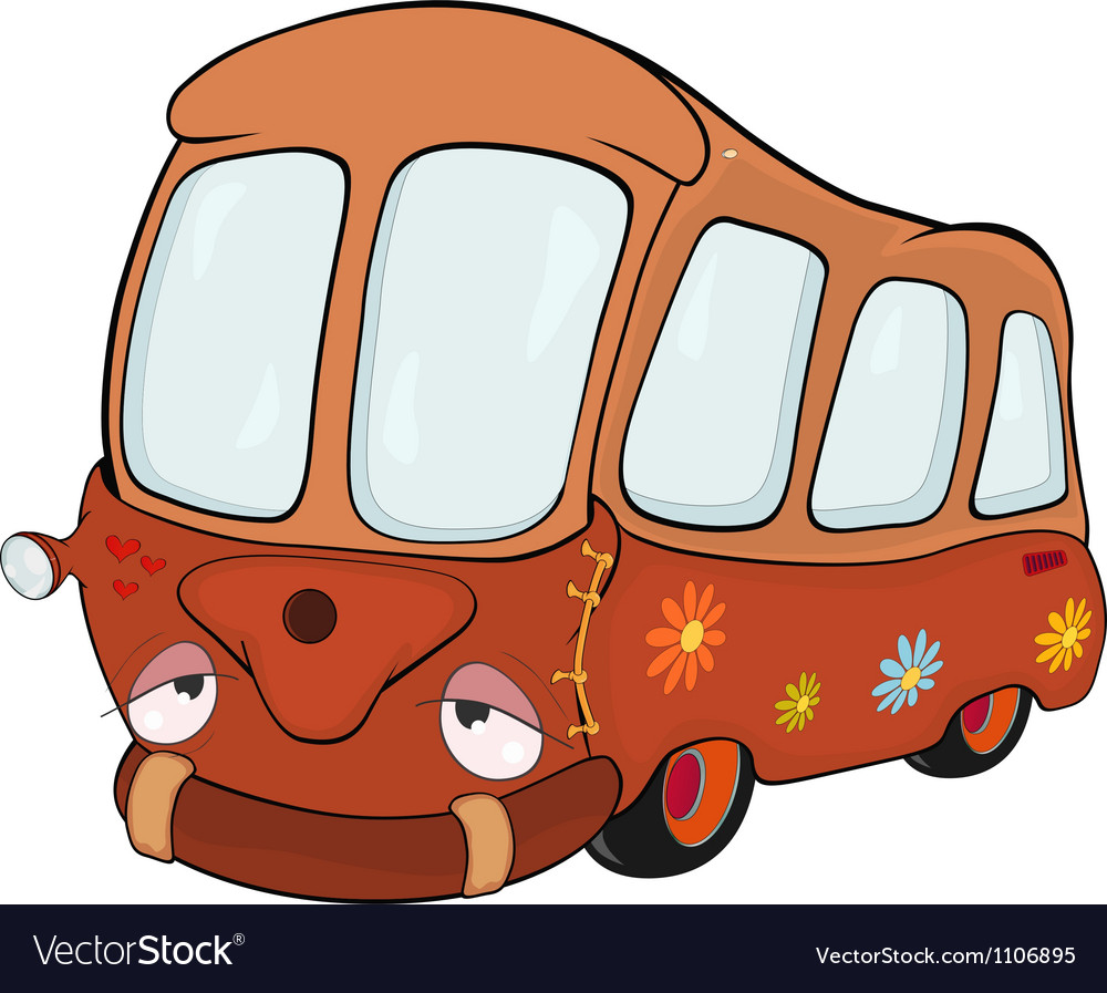 The little red school bus vector | Price: 1 Credit (USD $1)