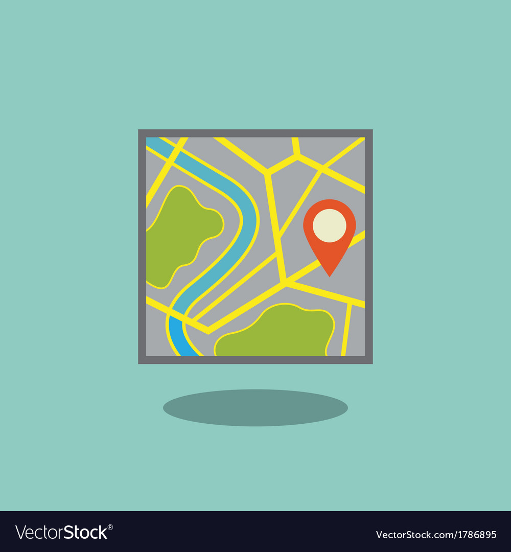 Map icon with pointer vector | Price: 1 Credit (USD $1)