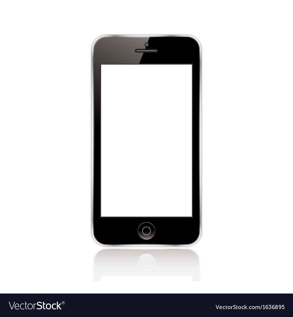 Mobile phone black vector | Price: 1 Credit (USD $1)