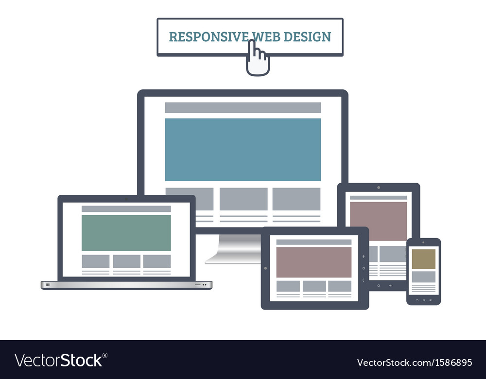 Responsive web mockup vector | Price: 1 Credit (USD $1)