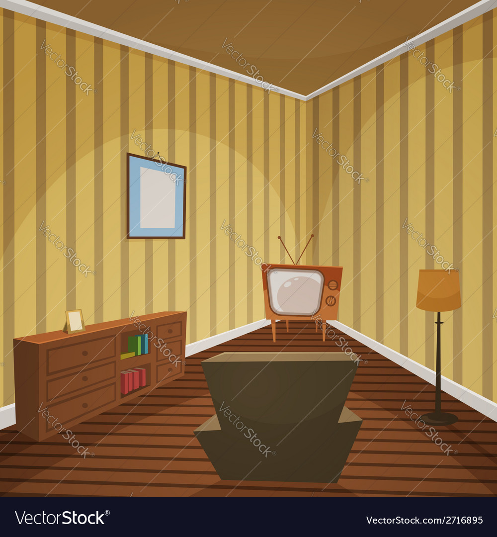 Retro indoor vector | Price: 1 Credit (USD $1)