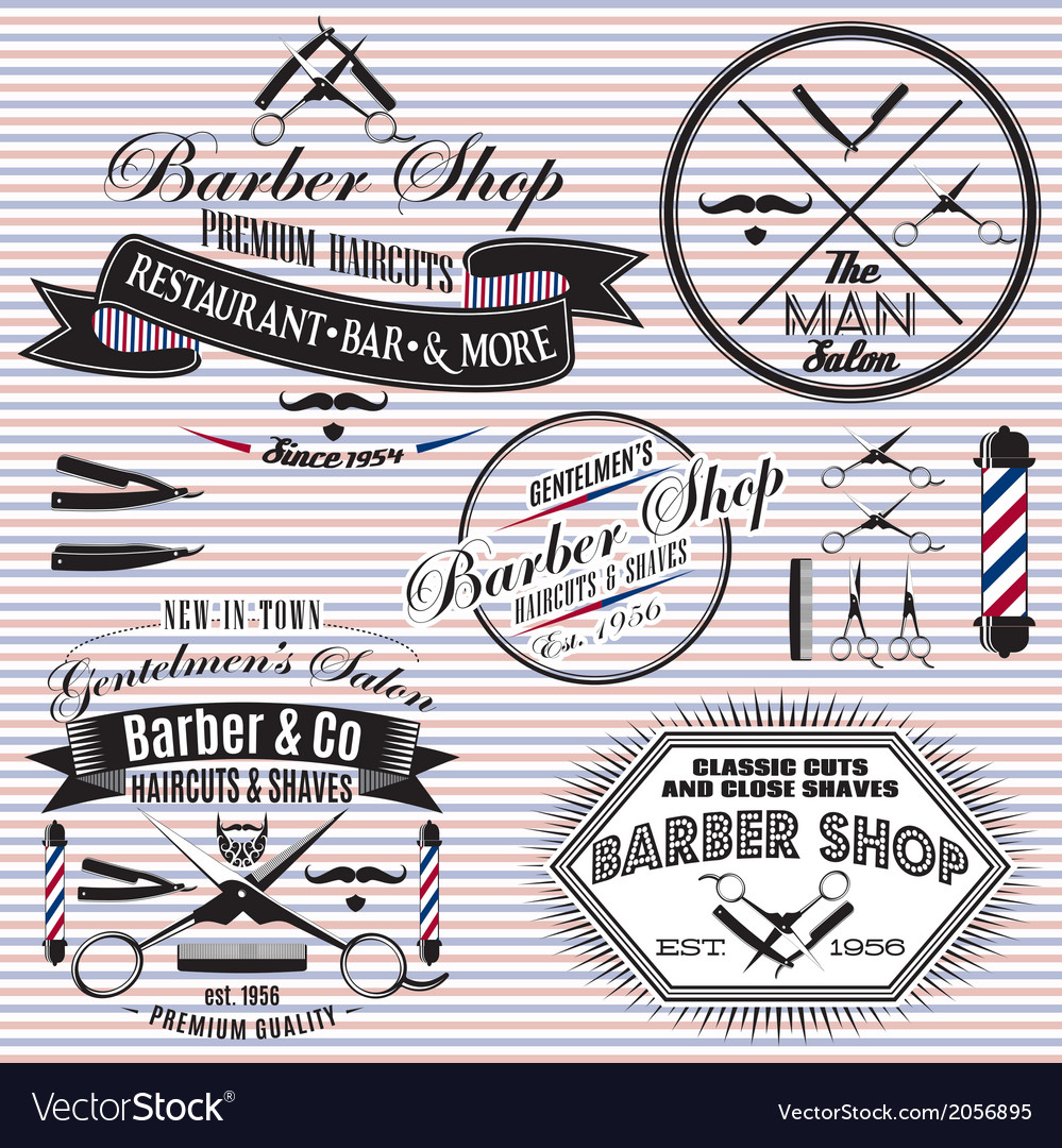 Set of icons on a theme hair salon vector | Price: 1 Credit (USD $1)