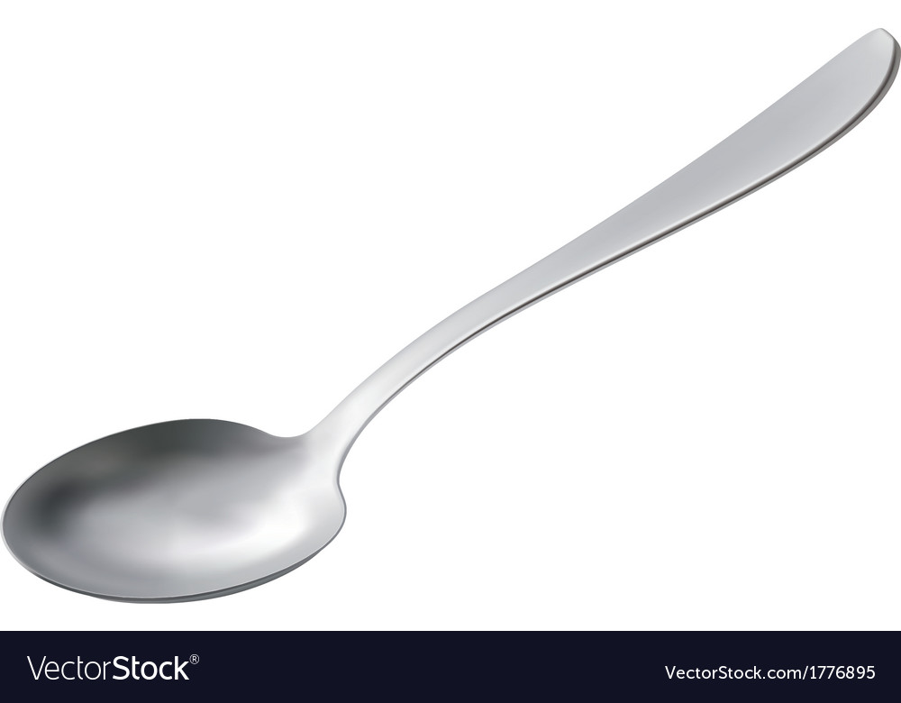 Spoon isolated vector | Price: 1 Credit (USD $1)