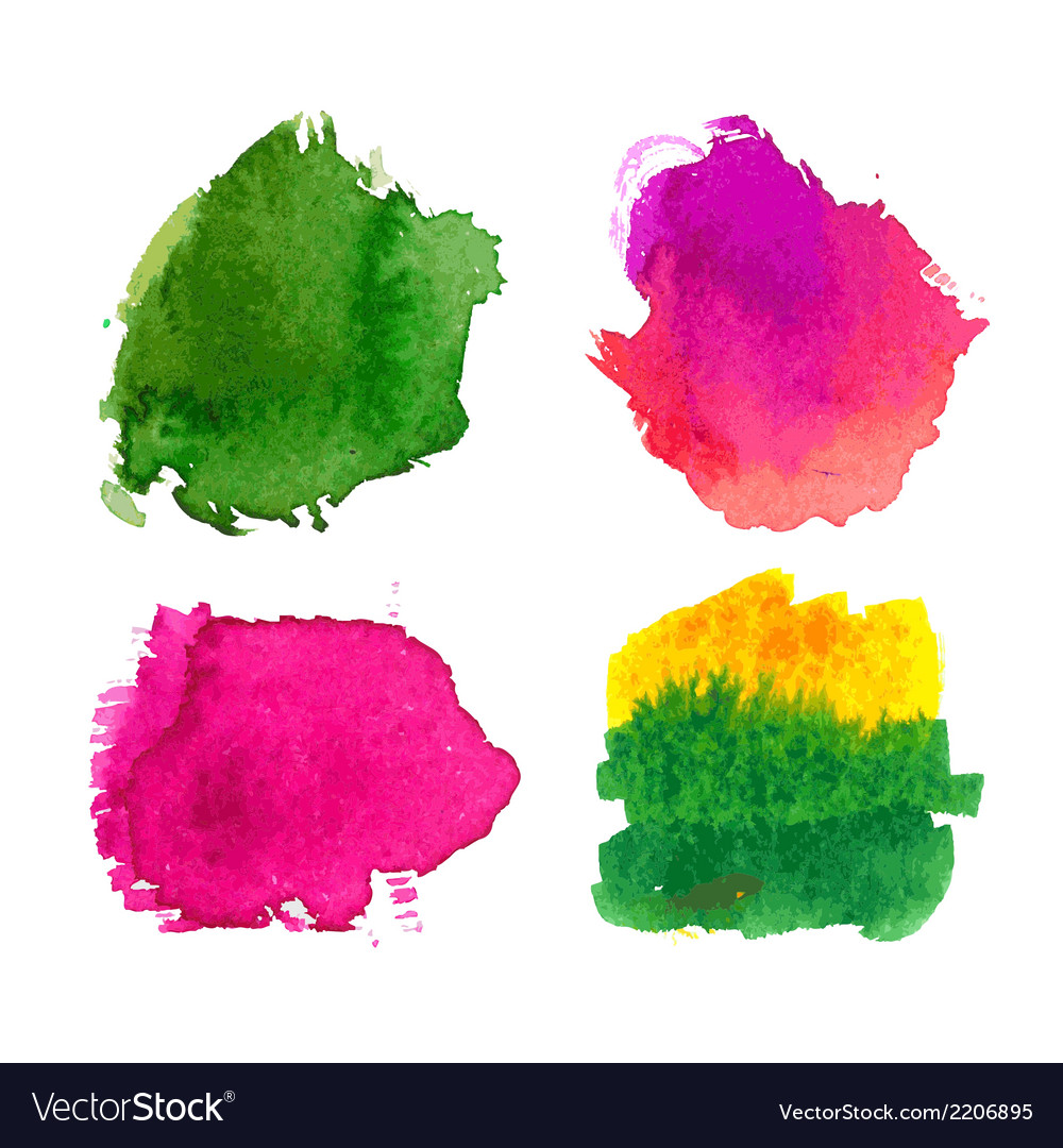 Water-colour blots vector | Price: 1 Credit (USD $1)