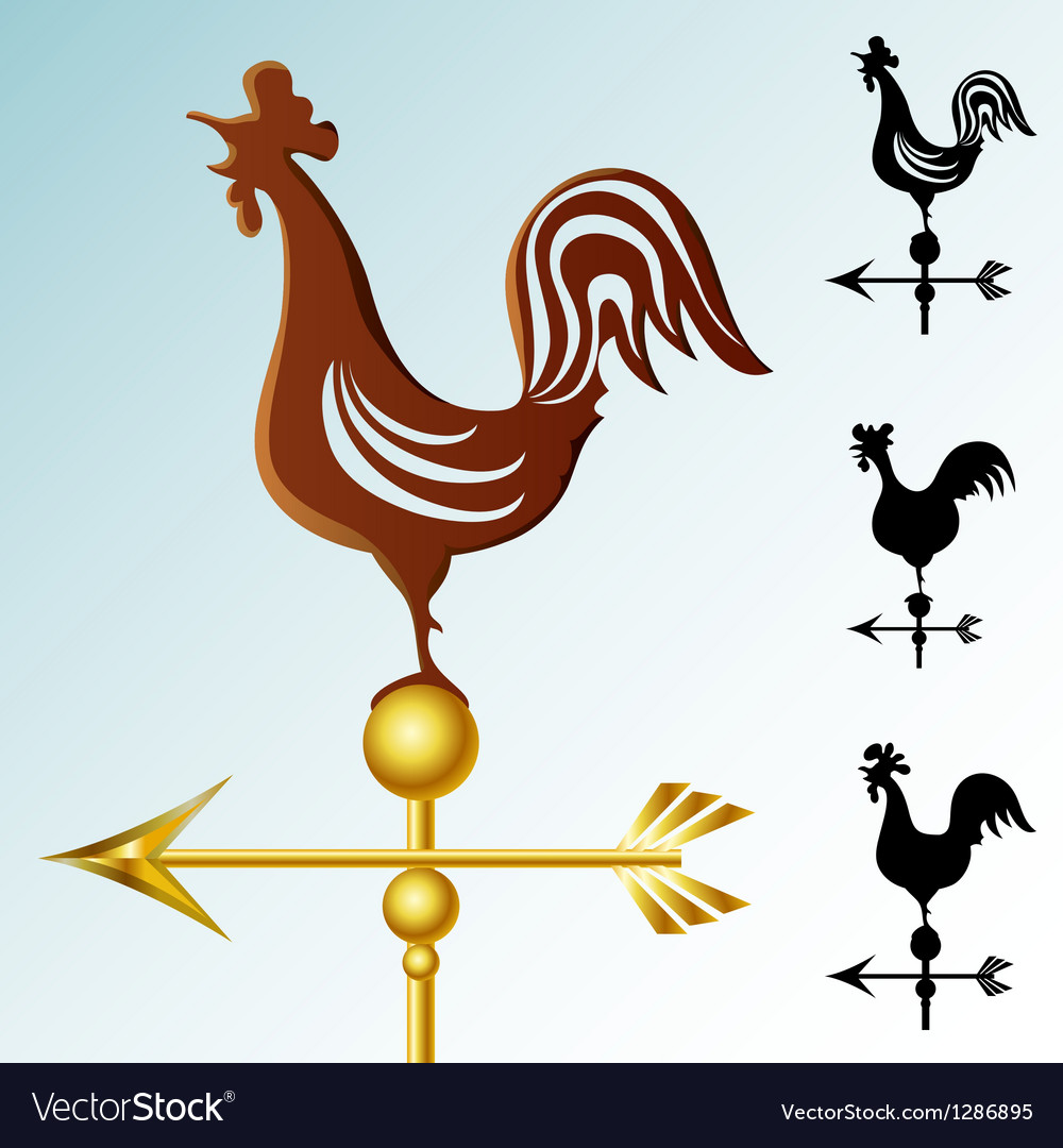 Weather vane set vector | Price: 1 Credit (USD $1)