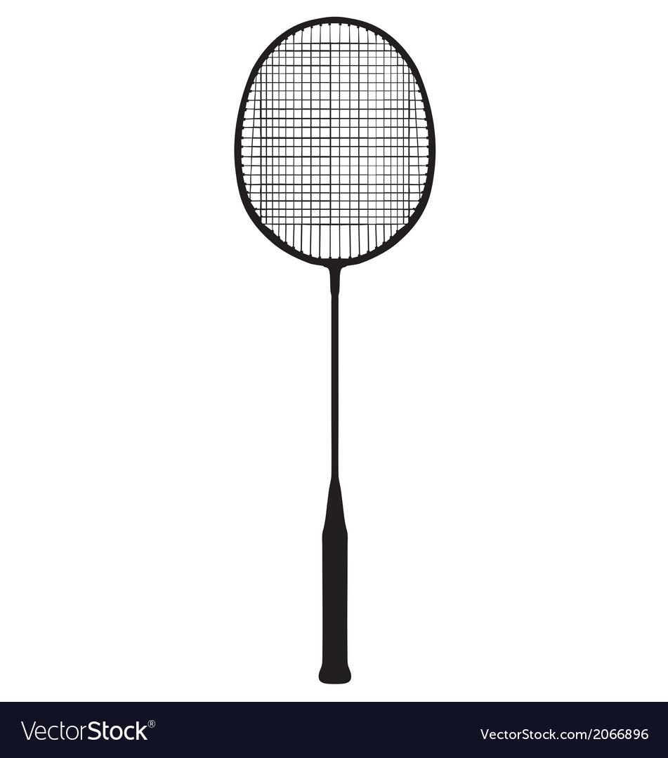 Badminton racquet vector | Price: 1 Credit (USD $1)