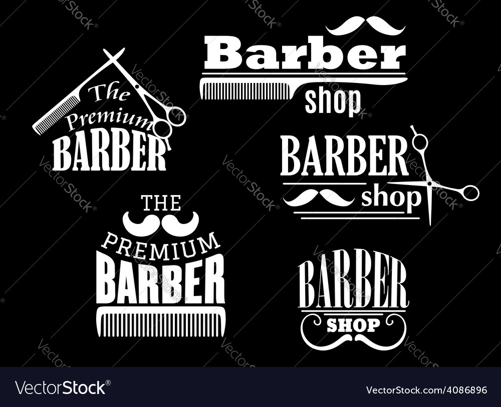 Banners signs and pointers for barber shop vector | Price: 1 Credit (USD $1)