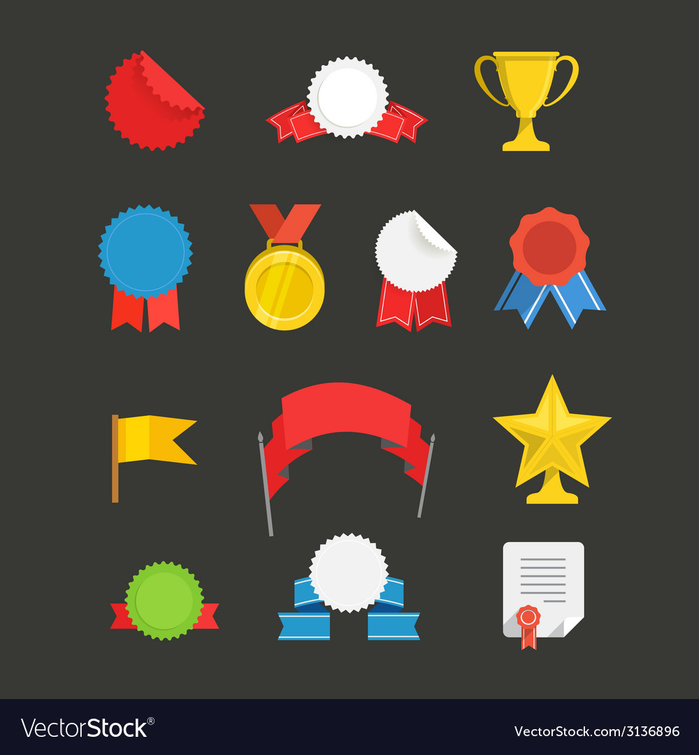Different events flat icons set vector | Price: 1 Credit (USD $1)