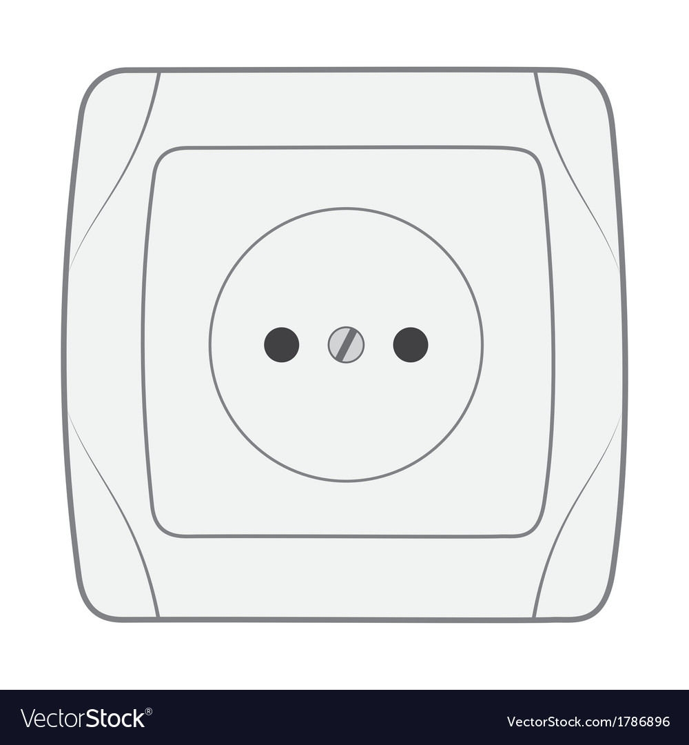 Electric household socket vector | Price: 1 Credit (USD $1)