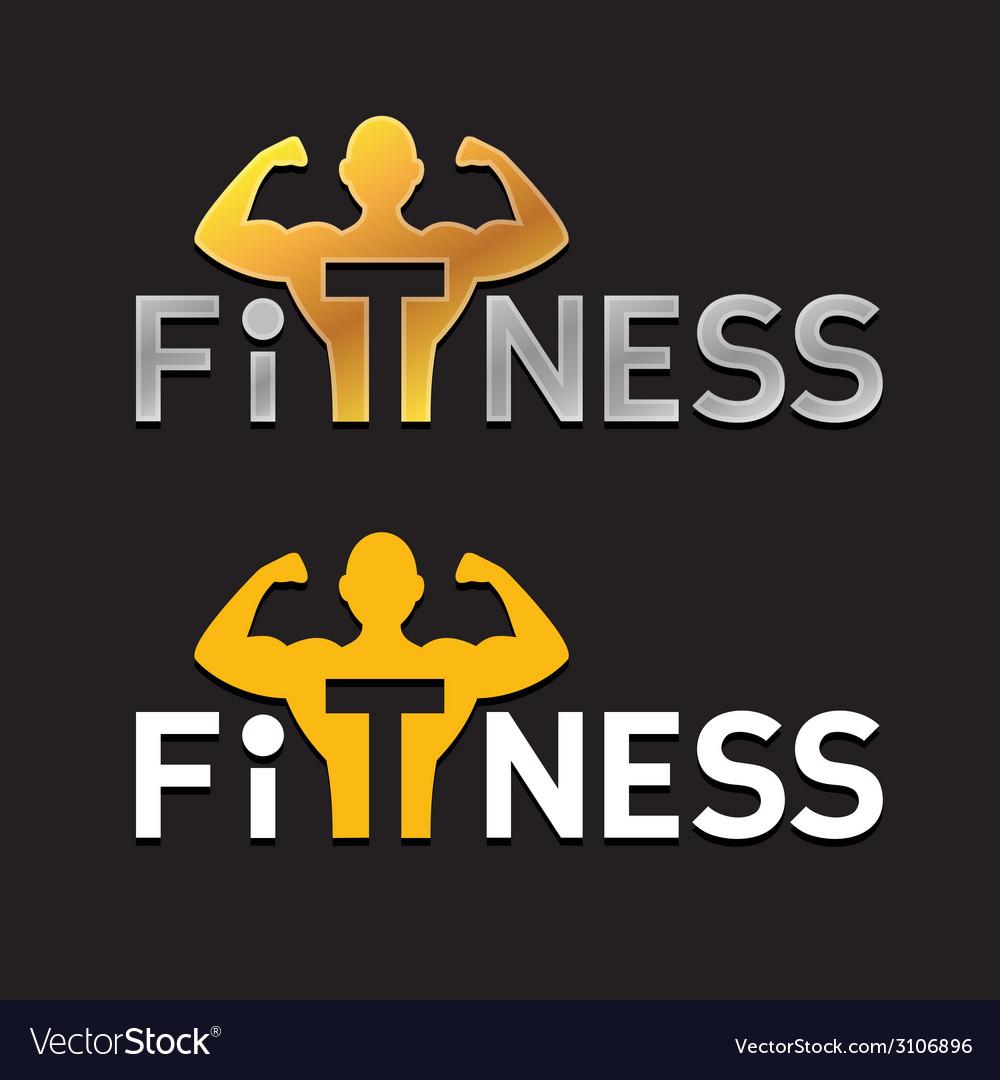 Fitness logo vector | Price: 1 Credit (USD $1)